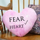No Fear Heart Throw Pillow E7784151x