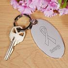 Hope Ribbon Silver Key Chain 8549770