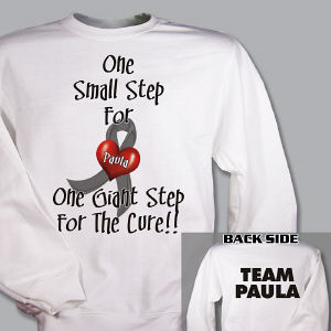 Personalized For The Cure Diabetes Awareness Sweatshirt