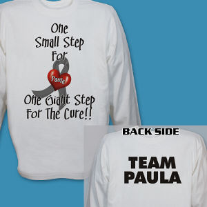 Personalized For The Cure Diabetes Awareness Long Sleeve Shirt