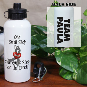 Personalized For The Cure Diabetes Awareness Water Bottle