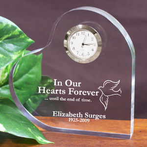 In Our Hearts Forever Memorial Heart Keepsake