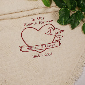 In Our Hearts Memorial Afghan