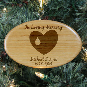 Loving Memory personalized Wooden Ornament
