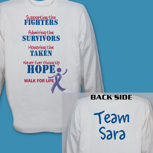 Personalized Fighting for the Cause Cancer Awareness Long Sleeve Shirt