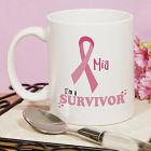 I'm A Survivor - Breast Cancer Awareness Personalized Coffee Mug