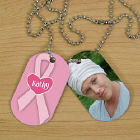 Breast Cancer Photo Dog Tags