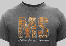 MS Awareness Shirts and Walk Gear