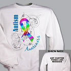 Personalized Autism Ribbon Awareness T-Shirt 34187X