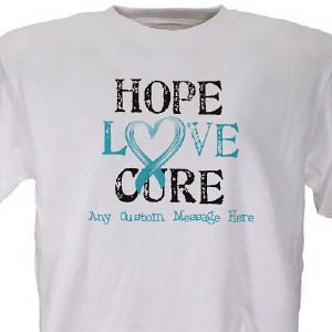 Hope Love Cure Awareness Personalized T-shirt