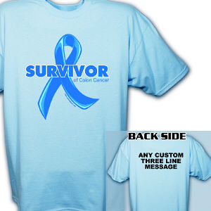 Colon Cancer Survivor Ribbon T-Shirt