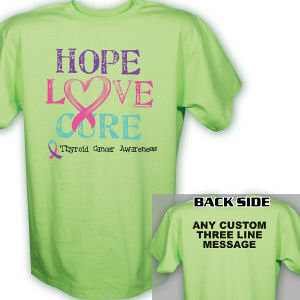 Hope Love Cure Thyroid Cancer T-Shirt