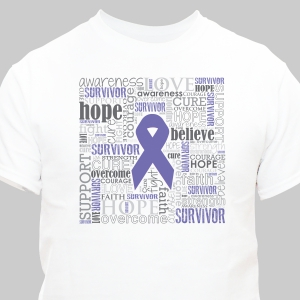 Purple Survivor Word-Art T-Shirt