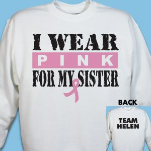 I Wear Pink Breast Cancer Sweatshirt
