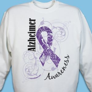 Alzheimer's Awareness Ribbon Sweatshirt