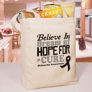 Believe In A Cure Melanoma Awareness Tote Bag