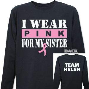 I Wear Pink Breast Cancer Long Sleeve Shirt