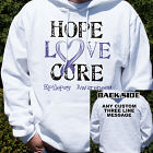 Personalized Hope Love Cure Epilepsy Awareness Hooded Sweatshirt