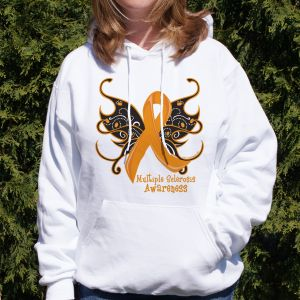 MS Butterfly Ribbon Hooded Sweatshirt