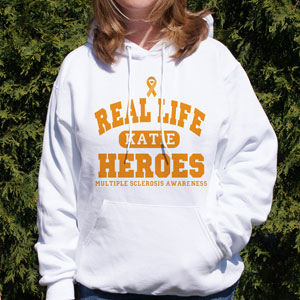 Real Life Hero MS Awareness Hooded Sweatshirt