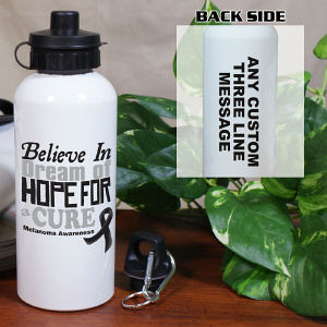 Believe In A Cure Melanoma Awareness Water Bottle