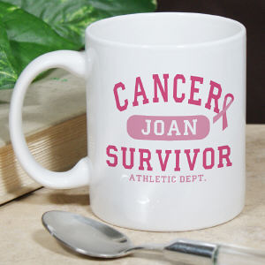 Cancer Survivor Athletic Dept. - Breast Cancer Awareness Personalized Coffee Mug