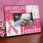 Love Hope Live Survive Personalized Breast Cancer Awareness Picture Frame