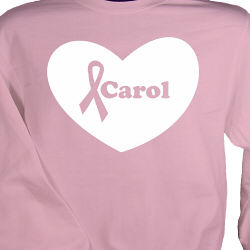 Big Heart - Breast Cancer Awareness Personalized Sweatshirt