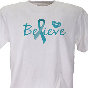 Ovarian Cancer Awareness Personalized T-shirt