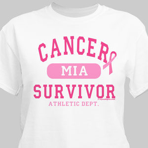 Cancer Survivor Athletic Dept. - Breast Cancer Awareness Personalized T-shirt