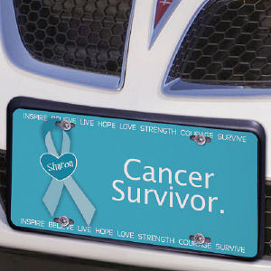 Cancer Awareness Personalized License Plate
