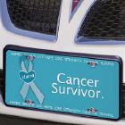 Cancer Survivor - Ovarian Cancer Awareness Personalized License Plate 441463