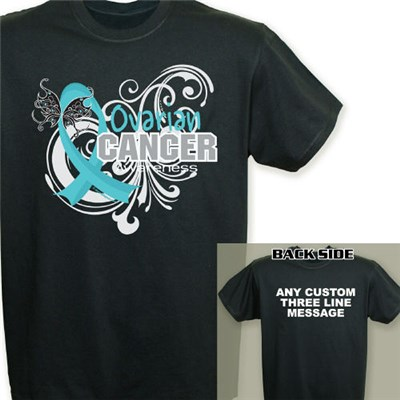 Ovarian cancer t shirt ovarian cancer awareness t shirt for Ovarian cancer awareness t shirts