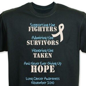 079c913bd Fighting the Cause Lung Cancer Awareness T-Shirt 34144X