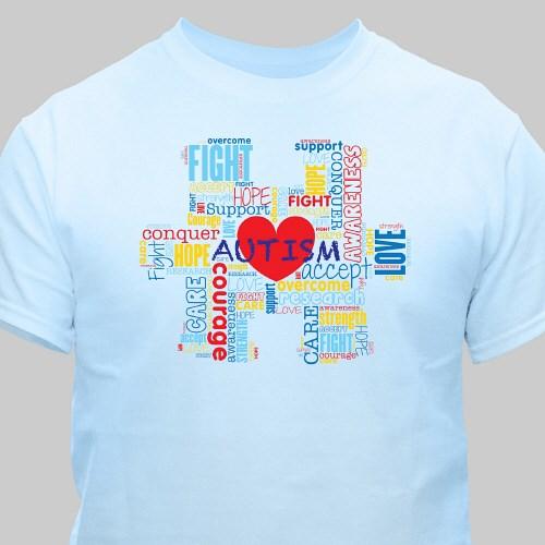 3319b09cbe3 Puzzle Piece Autism T-Shirt | MyWalkGear.com