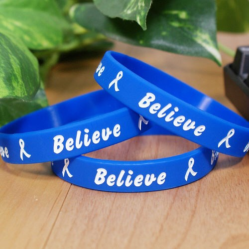Blue Believe Awareness Bracelet