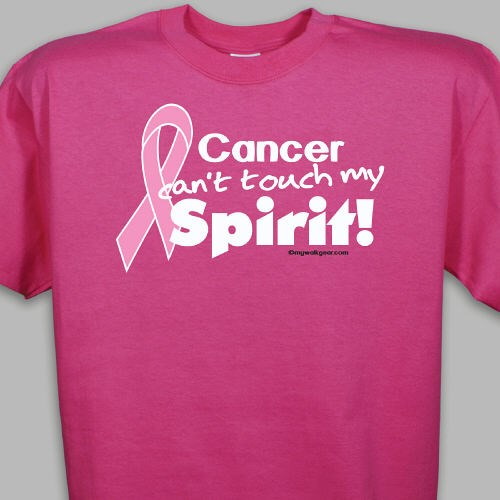 Pink hope ribbon spirit t shirt for Breast cancer shirts ideas