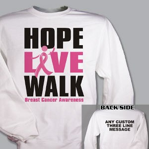 Personalized Breast Cancer Walk Sweatshirt 54101X