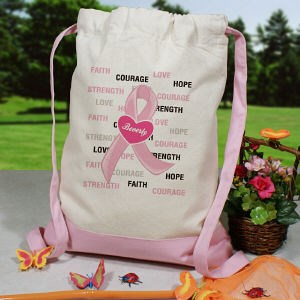 Hope and Love Breast Cancer Awareness Backpack | Breast Cancer Awareness Products