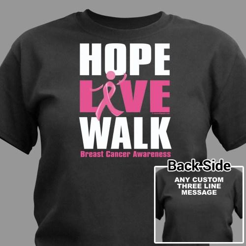 Personalized Breast Cancer Walk T-Shirt | MyWalkGear.com