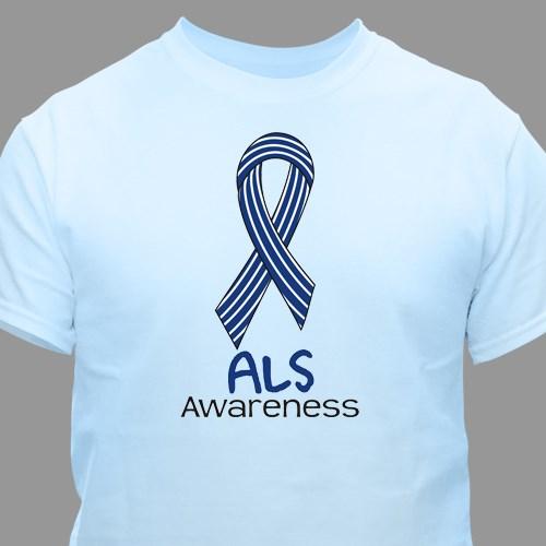 ALS Awareness Ribbon T-Shirt | MyWalkGear com