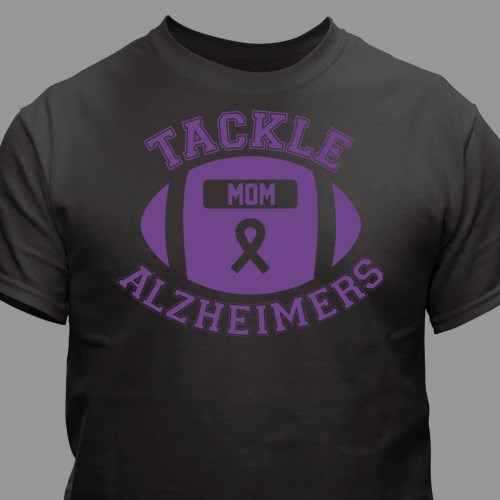 40a15f471 Tackle Alzheimer's T-Shirt black & Purple | MyWalkGear.com