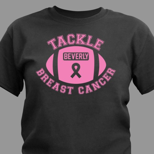 Tackle breast cancer t shirt for Breast cancer shirts ideas