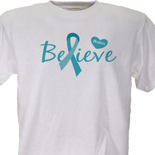 Ovarian cancer awareness personalized t shirt for Ovarian cancer awareness t shirts