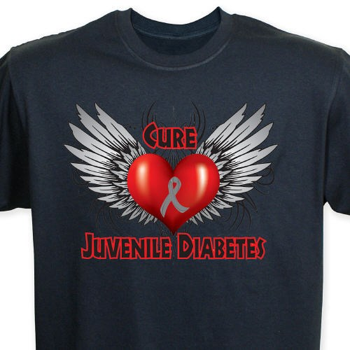 Cure juvenile diabetes awareness t shirt for Jdrf one walk t shirts