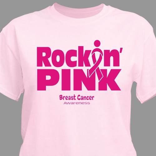 Have hit T shirts for breast cancer awareness